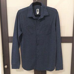 Howe blue button down long sleeve shirt size M